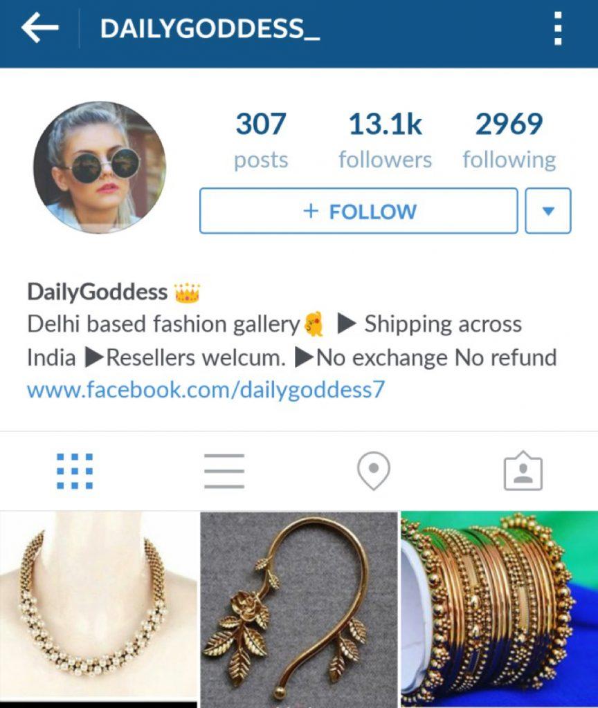 DailyGoddess_ Instagram profile