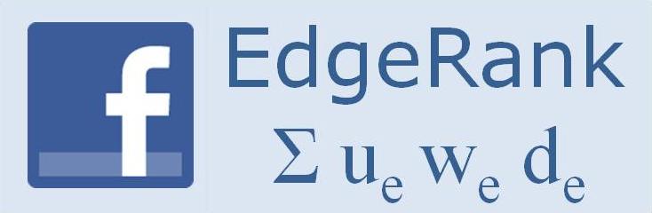 Facebook edge rank algorithm