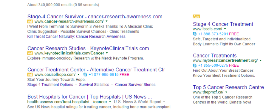 New above-the-fold AdWords SERP ads