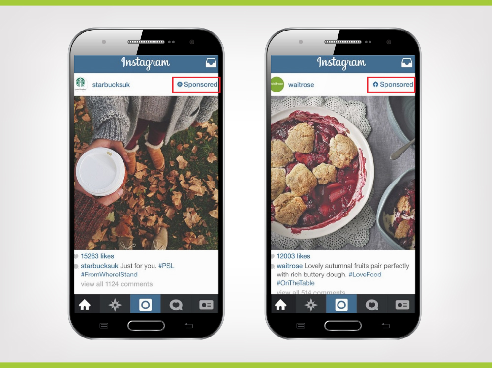 sample sponsored Instagram advertisement