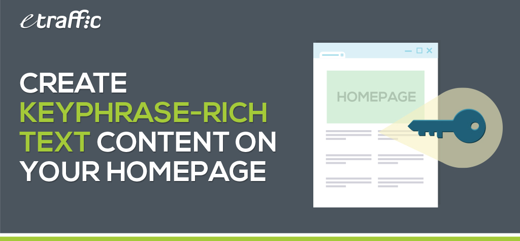 Create Keyphrase-rich Text Content on Your Homepage