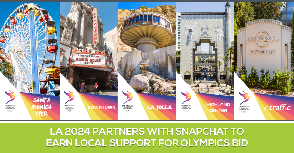 LA 2024 Partners with Snapchat to Earn Local Support for Olympics Bid