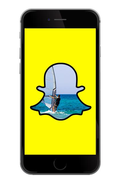 Snapchat windsurfing in Queensland