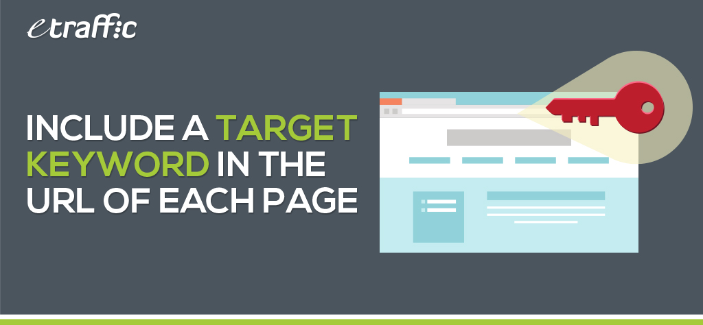 Include a Target Keyword in the URL of Each Page