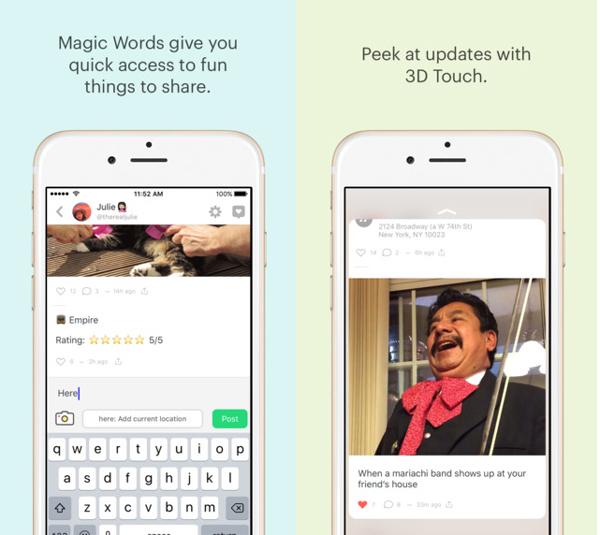 Peach App on iPhone 6s