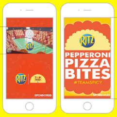 Ritz pepperoni pizza bites sponsored event