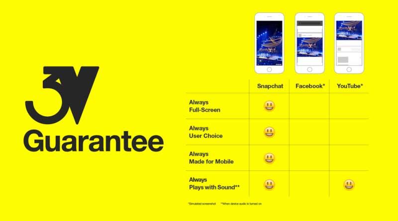 Snapchat 3v advertising