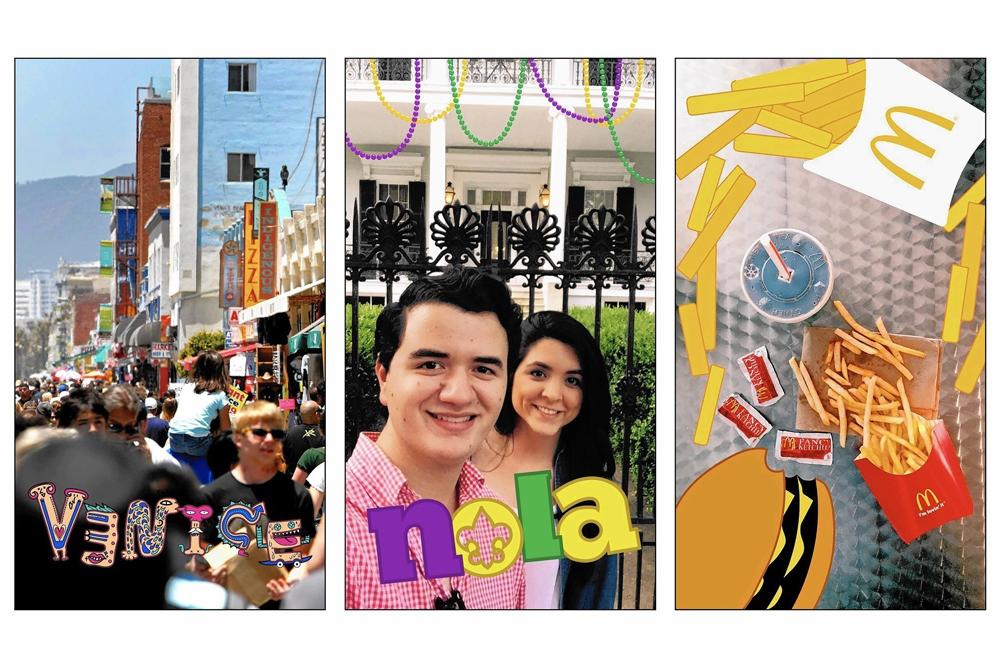 Snapchat in-app illustrations