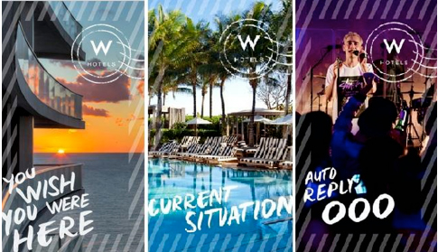 W Hotels postcard filters