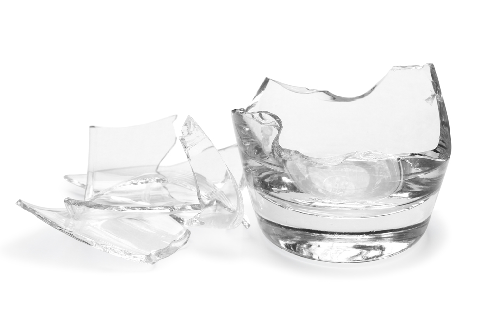 fragmented marketing - a broken glass