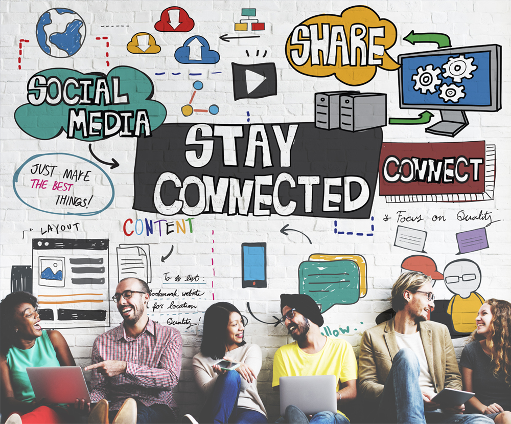 stay connected on social media