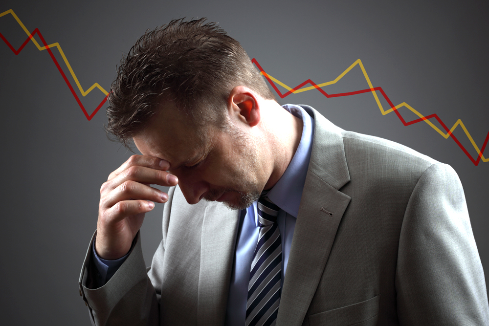 stocks spiraling downward