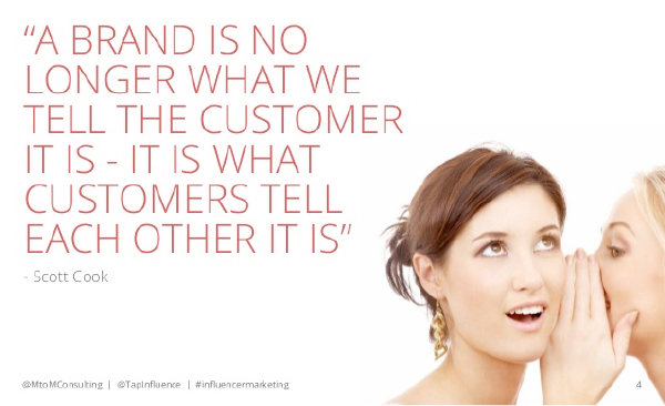 A brand is what customer tells each other it is