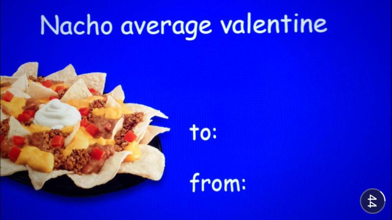 Taco Bell valentine card
