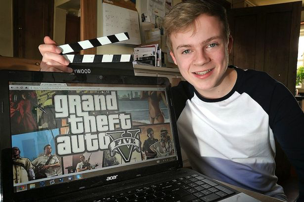 boy making Grand Theft Auto video walkthroughs