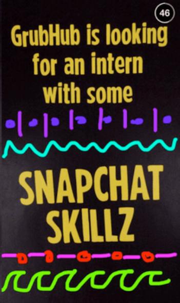 grubhub pre-interview qualification on Snapchat