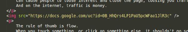 html text p tag