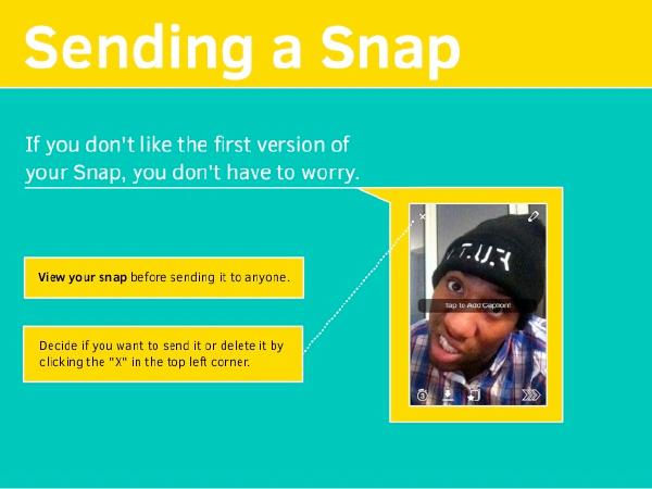 sending a snap