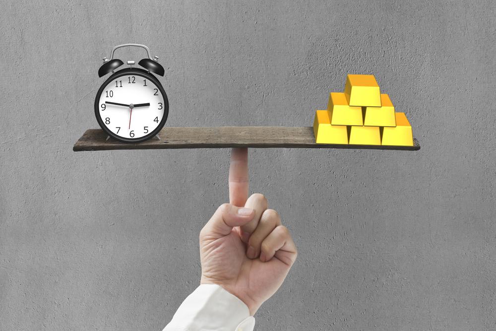 weighing time versus gold