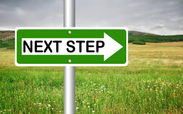 next step sign