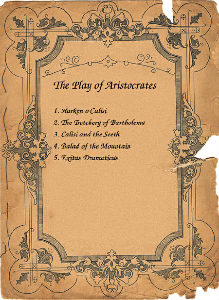 the play of aristocrates
