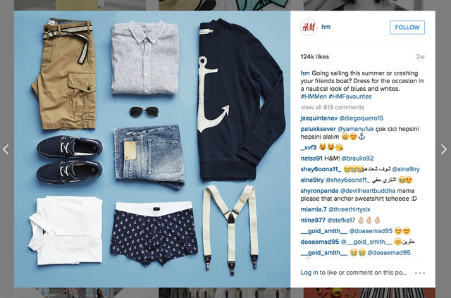 H&M Instagram account products