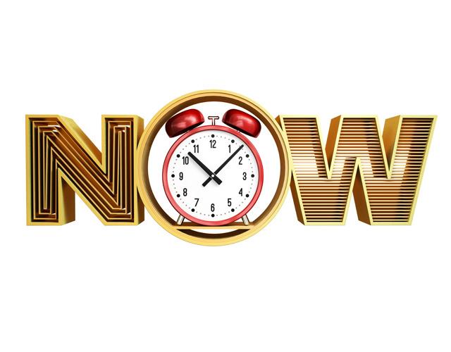 now - sense of urgency