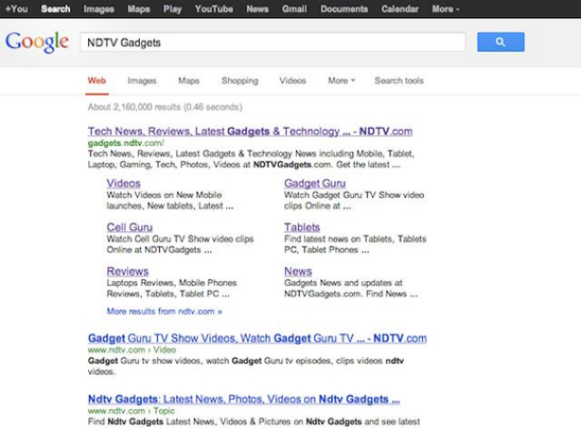 NDTV Gadgets search