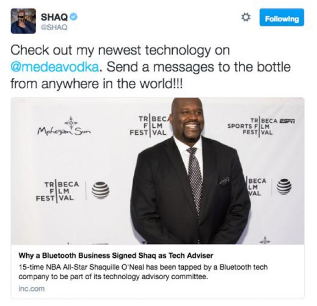 Shaquille O'neal Tweet