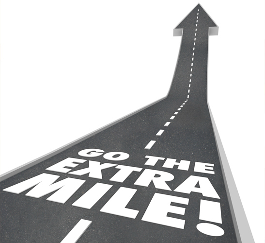 go extra mile for your clients