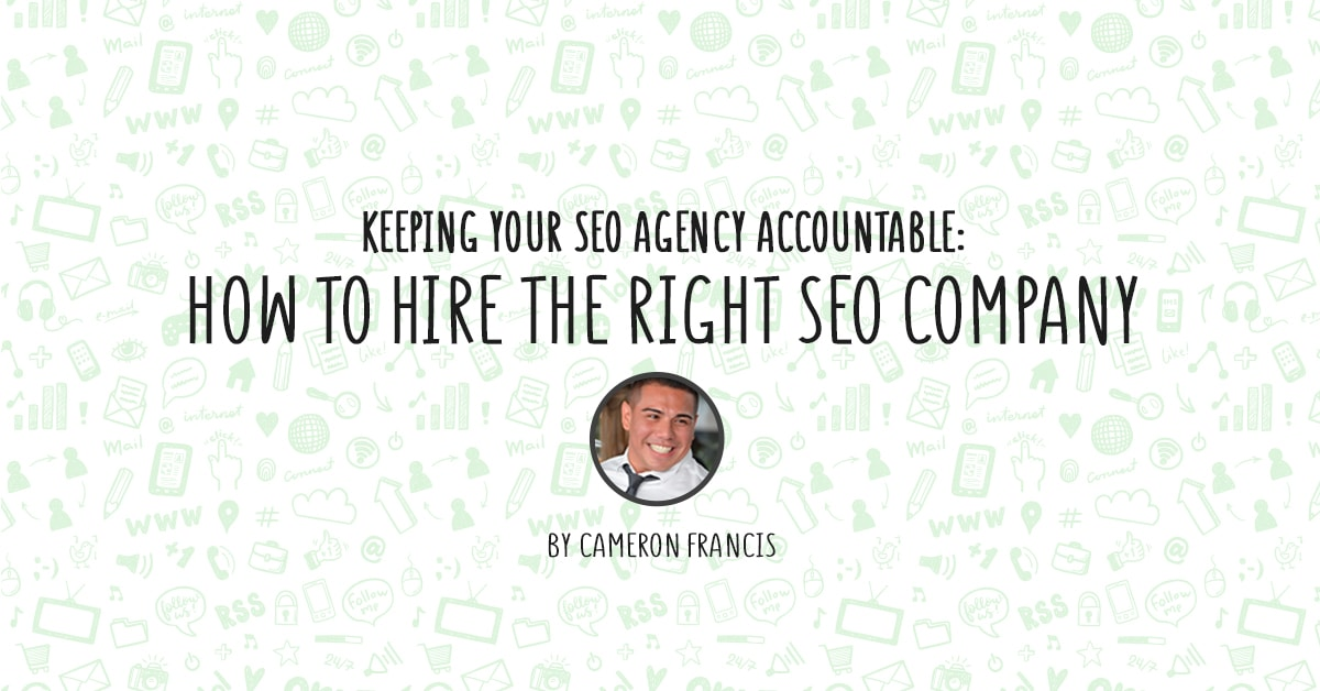 Keeping your SEO Agency Accountable