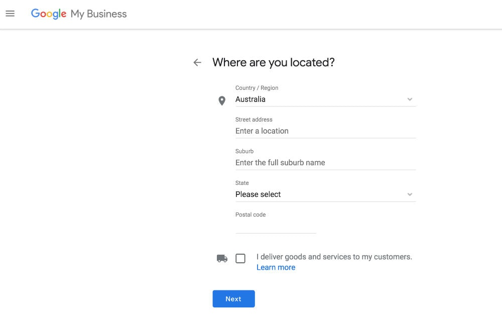 google my business steps