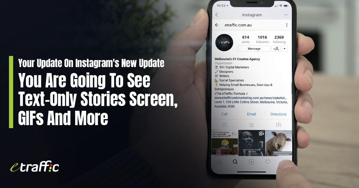 Instagram Update | ETRAFFIC Web Marketing