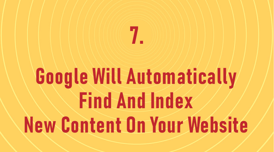 Google Will Automatically Find And Index New Content On Your Website