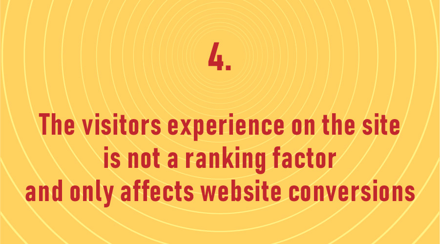 The visitors experience on the site is not a ranking factor and only affects website conversions!