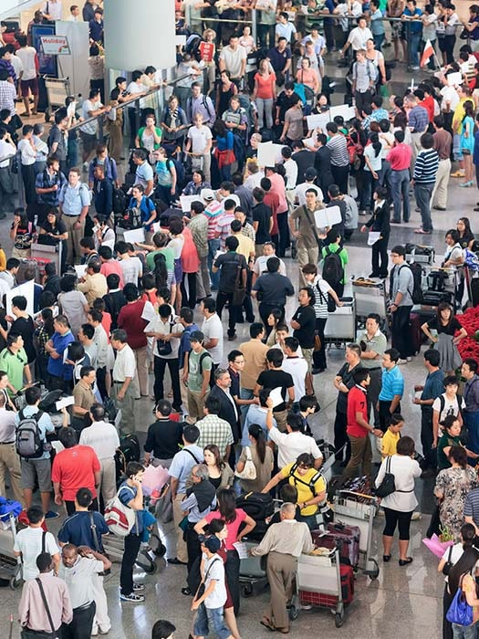 busy beijing airport